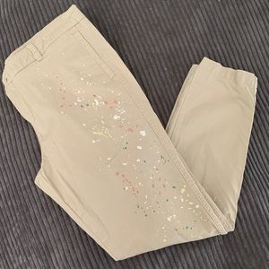 Soho Boyfriend Khaki Stained Pants